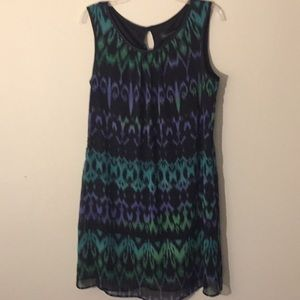 👗Black, Teal & Purple Sundress - Size 10
